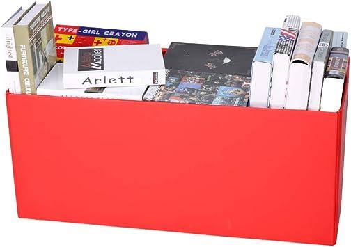 Colore:Rosso CCLIFE Pouf Puff Poggiapiedi Sgabello Contenitore Cassapanca pieghevole 85 x 40 x 40 cm