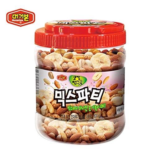 [Mergerbon] Mix Party Mixed Nuts W/ Coffee Peanut, Glutinous Peanut, Honey Peanut, Banana Chip, Dried Almond & Rice Chip…
