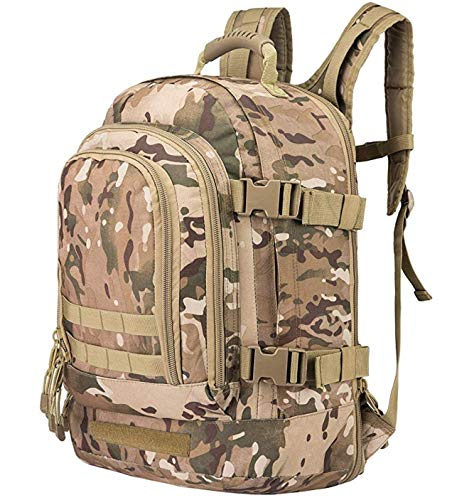 Scorpion Tactics Expandable Outdoor Large Backpack Tactical Backpack Army Assault Rucksack Pack Bug Out Bag TAN ST…