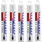 Lantelme 3293 Set di 5 termometri per frigorifero, refrigeratori, ghiacciaia / Analogico, + / - 40 °C