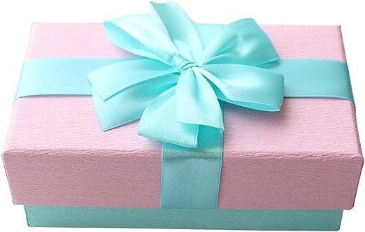 Rectangular Caja de Regalo Rosa Reforzado Cartón Material Seda Arco Decoración Lápiz Labial Perfume Joyería Caja de Embalaje: Amazon.es: Hogar