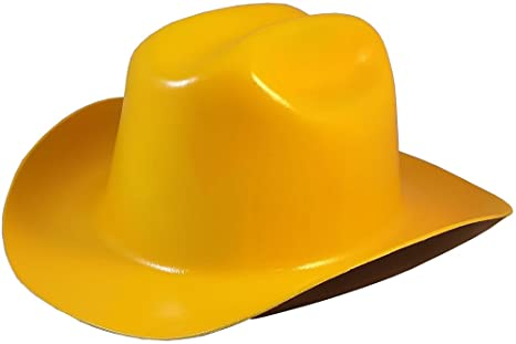 a9cc4dc1630 Amazon.com  Western Cowboy Hard Hat with Ratchet Suspension - Yellow ...