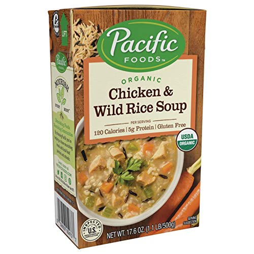 Pacific Foods Organic Chicken with Wild Rice Soup, 17.6-Ounce Cartons, 12-Pack (Best Organic Chicken Brands)
