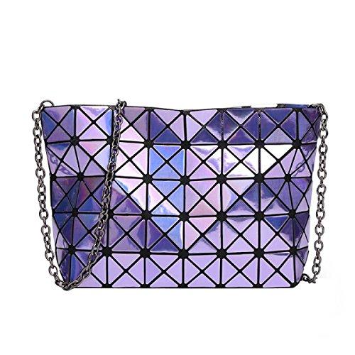 Paquete De Mano Bolsa De Hombro Geométrica De Las Mujeres Purple