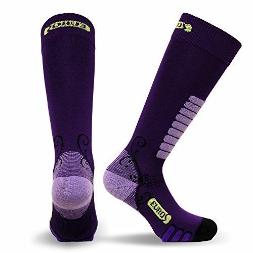 Eurosocks Women's Snow Skiing Sock, Purple, ()
