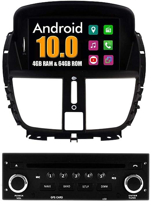 RoverOne Android Sistema Autoradio GPS para Peugeot 207 con Navegación Radio Estéreo DVD Bluetooth USB Mirror Link