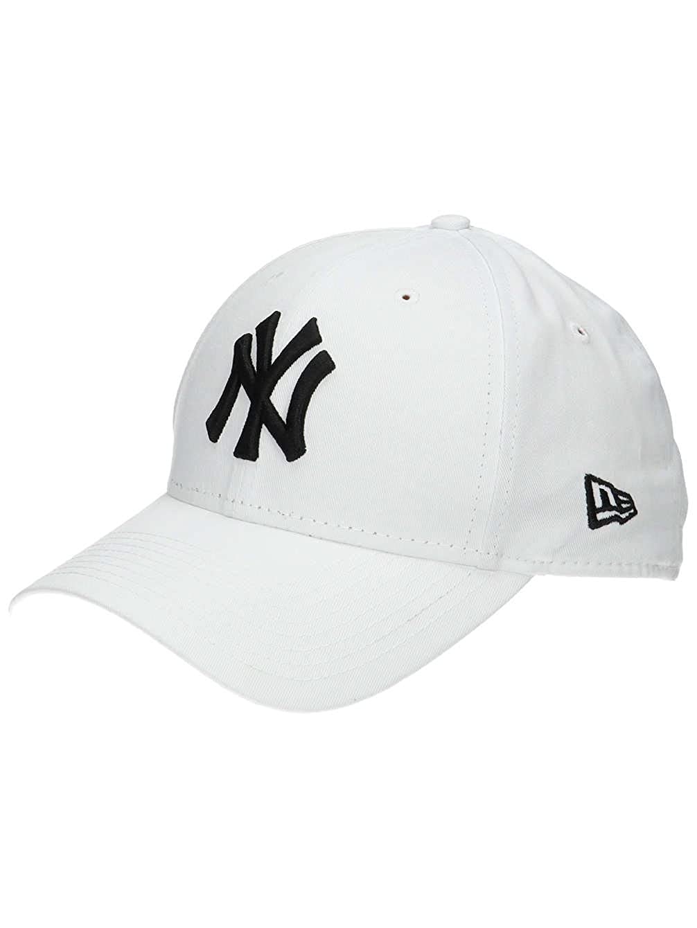 New Era New York Yankees 9FORTY Fit Mens Adjustable Cap White / Black 10745455 at Amazon Mens Clothing store: Sports Fan Baseball Caps