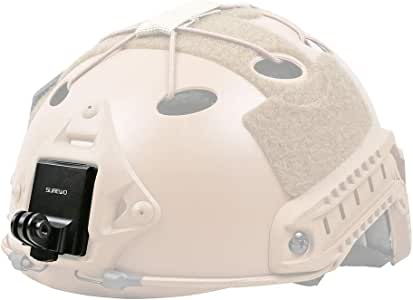 Helmet Aluminum Fixed Mount For Go pro Hero 3 Sport Camera And Nvg MountSG