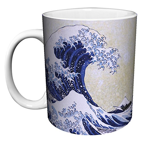 Katsushika Hokusai The Great Wave Japanese Fine Art Ceramic Gift Coffee (Tea, Cocoa) 11 Oz. Mug