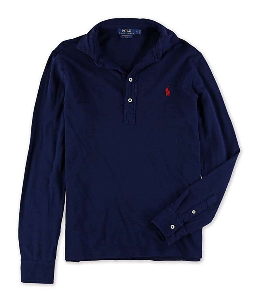 Ralph Lauren Mens Solid Long Sleeve Rugby Polo Shirt