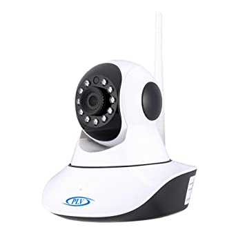PLV 720P HD Robot Wifi IP Camera Pan Tilt Day/Night Vision 2 Way Audio SD  Card Slot Motion Detection Free APP Support 9 Langusges One Key to Move