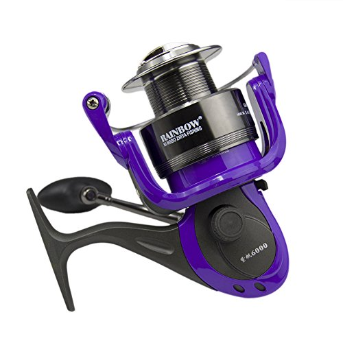 Tica taurus tp 5000s spinning reel silver 17 test 300 for Purple fishing reel