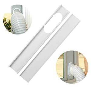 Air Conditioner Hose. Mobile air Conditioner Universal Adjustable Window Sealing Plate Splint Baffle -Great for LG, Delonghi and Many More Portable Air Conditioners. (White, 20CM)