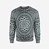 iPrint Mens Gingerbread Man Pullover Sweater