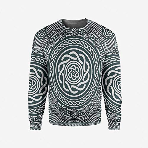 iPrint Mens Gingerbread Man Pullover Sweater by iPrint