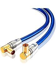 Cable de antena de 90 grados, macho a hembra, variación 7.5m azul