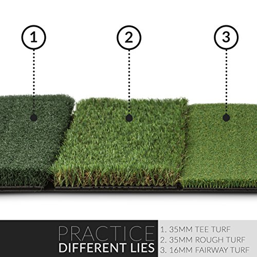Rukket 4pc Golf Bundle | 10x7ft SPDR Driving Net | Tri-Turf Hitting Mat | Barrier Protective Wings | Carry Bag | Practice Indoor and Outdoor by Rukket Sports (Image #5)