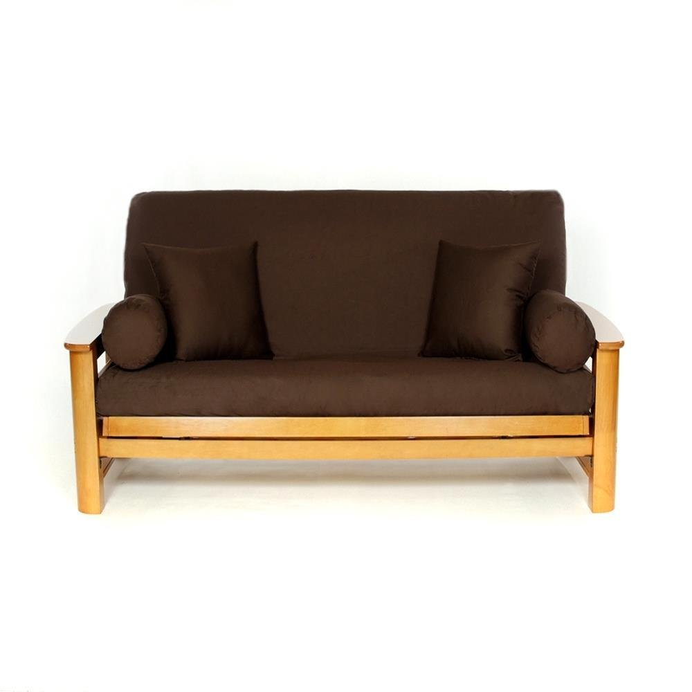 LS COVERS BROWN FULL FUTON COVER, Full Size Fits 6-8in Mattress, 54 x 75 Inch