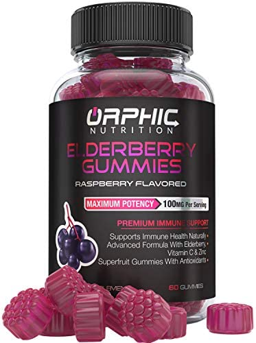 Elderberry Zinc Vitamin C Gummies – Immune System Support – Premium Antioxidant Formula Immune Booster for Men, Women and Kids – Best Source of Vitamin C – 100MG of Elderberry for Immune Support