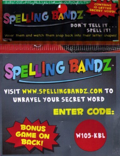 Spelling Bandz the Popular Word Game Sensation Pack of 10 by Spell Bandz
