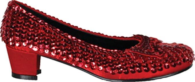 1f68c877d043f Amazon.com: DISC0UNTST0RE Girls - Kids-Childs Red Sequin Shoes Sm ...