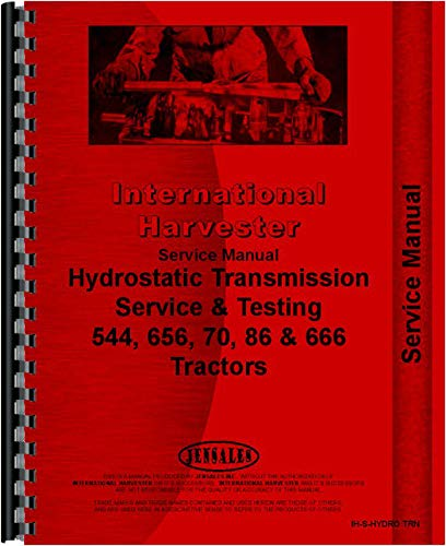 International Harvester 544 Tractor Hydrostatic Transmission Service Manual (Hydrostatic) by Jensales