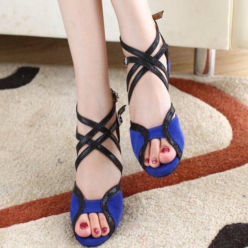 Minitoo - Zapatillas de danza para mujer azul azul lbsdjq