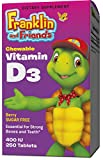 Treehouse Kids Supplements Vitamin D3, Chewable Berry Flavor 400 IU, 250 Count