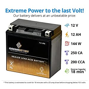 ATV Battery YTX14-BS for Honda TRX 500 420 450 350 300 Rubicon Foreman Rancher