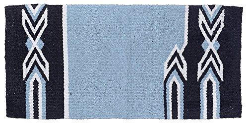 Tough 1 Tough-1 Tomahawk Double Weave Saddle Blanket, Light Blue/black/Cream by Tough 1 (Image #1)