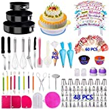 Cake Decorating Supplies 2019 Upgrade 274 PCS Baking Set with Springform Cake Pans Set,Cake Rotating Turntable,Cake Decorating Kits, Muffin Cup Mold, Cake Baking Supplies for Beginners and Cake Lovers