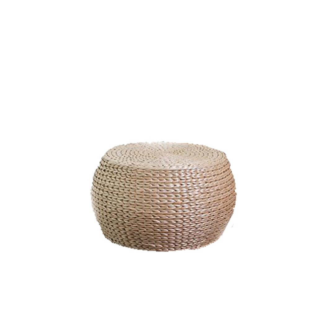 Stool Dana Carrie Straw admitted that idyllic rattan Straw admitted solid wood shelf pin again in other shoes that can be used as a seat round, 32*22CM