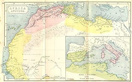 Amazon.com: AFRICA. Antiqua; Rome Carthage, start Punic War - 1908 on