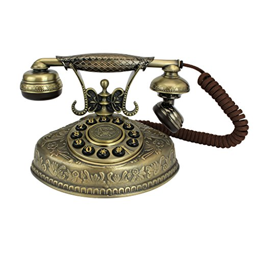 Antique Phone - Parisian City of Lights 1930 Rotary Telephone - Corded Retro Phone - Vintage Decorative Telephones