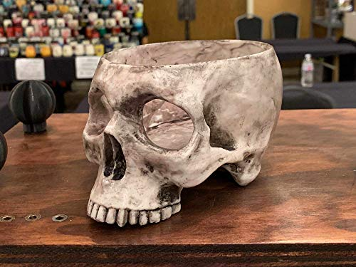 Realistic Human Skull Tea Light Candleholder