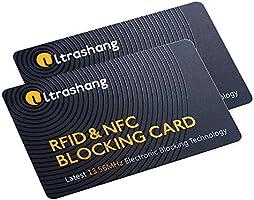 2Pcs RFID Blocking Card -Dual Wallet Shield-NFC Bank Debit Credit Protector Blocker
