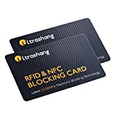 2Pcs RFID Blocking Card, Fuss-free Protection for Passport, Driver License, Wallet Shield, NFC Bank Debit Credit Card Protector Blocker(Ver. 2.0)