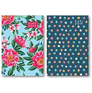 2019 A5 Week To View WTV Butterfly Padded Pu Cover Planner Organiser Diary