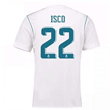 bd66f70bc21 2017-18 Real Madrid Home Football Soccer T-Shirt - Kids (Isco 22):  Amazon.co.uk: Sports & Outdoors