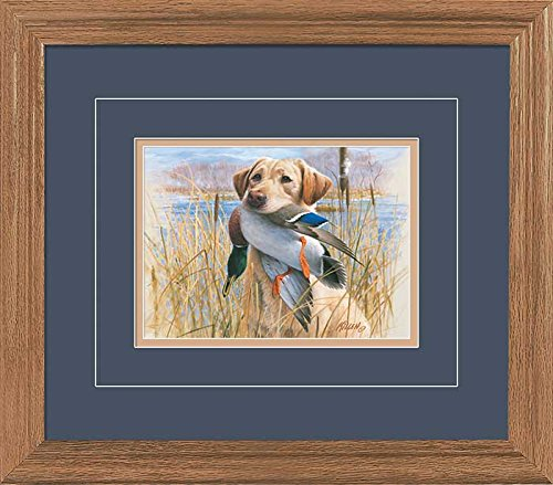 Proud Retriever - Yellow Lab GNA Deluxe Framed Print by Jim Killen