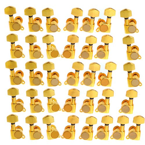 6sets of 18L18R K-803 Guitar String Tuning Pegs Tuners Machine Heads Gold by Guitar bass tuning pegs