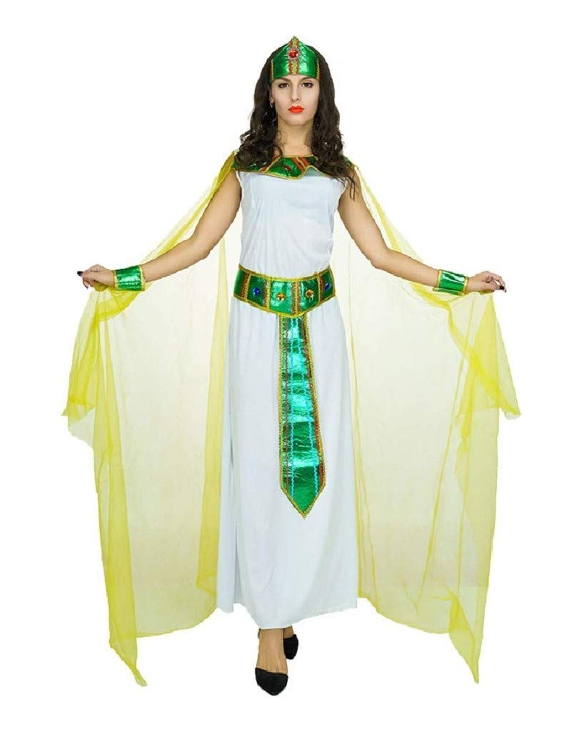 EVRYLON Disfraz de Carnaval Egipcio sacerdotisa Vestal Cleopatra ...