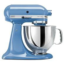 KitchenAid KSM150PSCO Artisan 5-Quart Stand Mixer, Cornflower Blue