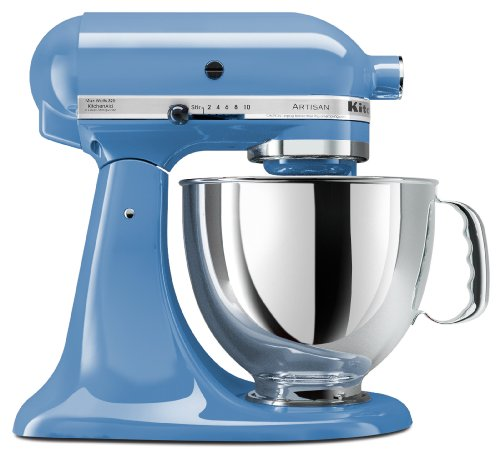 KitchenAid KSM150PSCO Artisan Series 5-Qt. Stand Mixer with Pouring Shield - Cornflower Blue (Kitchenaid Stand Mixer Blue)
