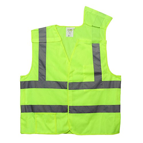 - Lime Class 2 High Visibility 5 Point Breakaway Safety Vest - XXXL