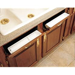 Kitchen Rev-A-Shelf 6572-11-15-52 Standard and Accessory False Front Tip-Out Trays – Polymer-Almond tip-out trays