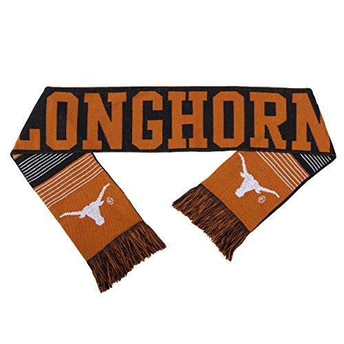 (NCAA Texas Longhorns Reversible Split Logo Scarf, One Size, Team Color)