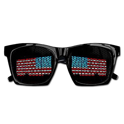 American Flag Times Square Party Fancy Party Favor Anti Glare Mesh Lens - Midtown Sunglasses