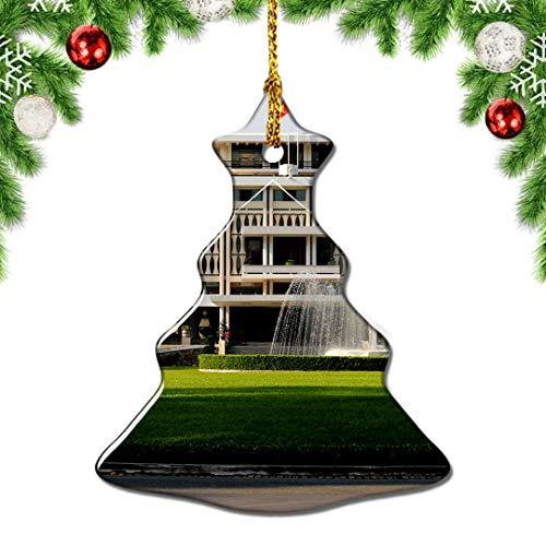 Weekino Vietnam Reunification Palace Ho Chi Minh Christmas Tree Ornament Decoration Hanging Pendant Decor City Travel Souvenir Collection Porcelain Double Sided