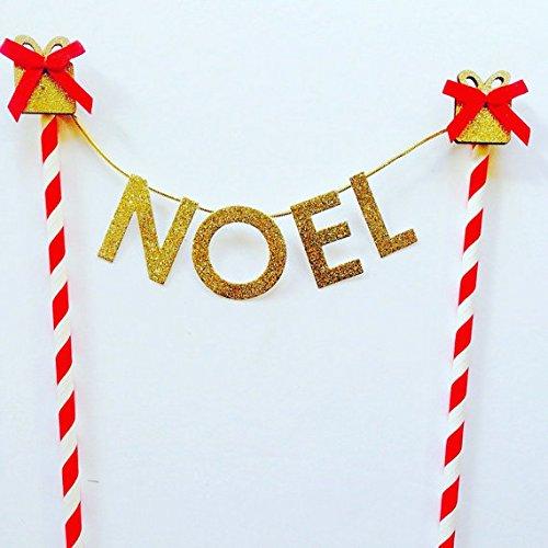 merry christmas gold glitter card cake topper bunting cake decorations christmas day decorations - Christmas Cake Decorations Amazon
